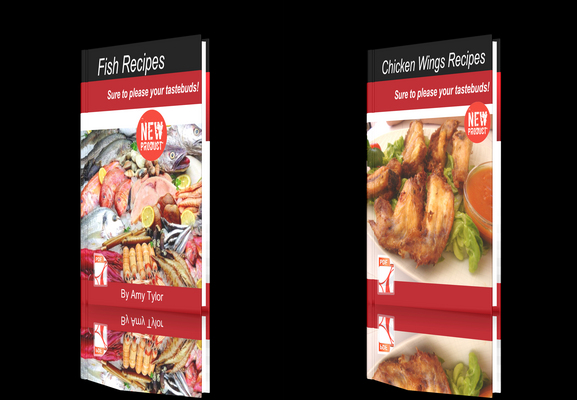 Product picture **NEW!**Two cookbooks-Chicken Wings Recipes + Fish Recipes.