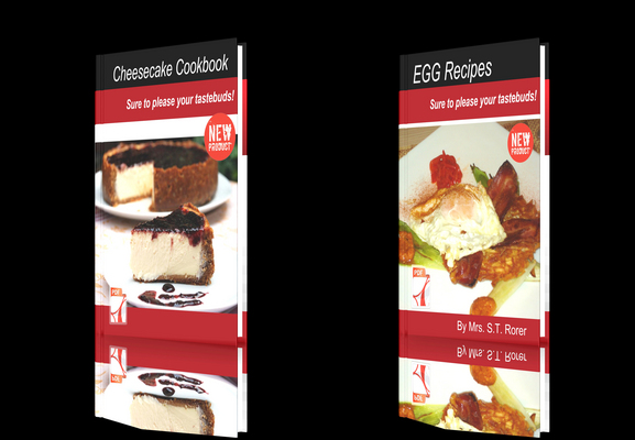 Product picture **NEW!**Fresh Recipes Two Books-Cheesecake Cookbook-EGG Reci