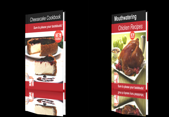 Product picture **NEW!**Two cookbooks Chicken Recipes+Cheesecake Cookbook.