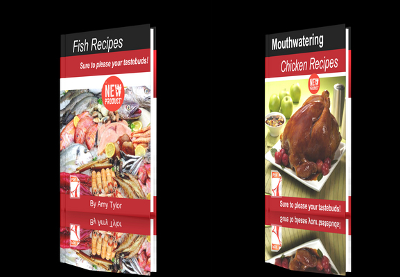 Product picture **NEW!**Fresh Recipes Two Books-Chicken Recipes-Fish Recipes