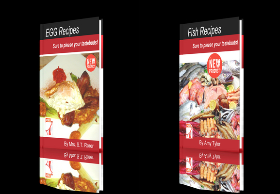 Product picture **NEW!**Fresh Recipes Two Books- EGG Recipes - Fish Recipes