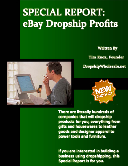 Product picture **New** SPECIAL REPORT - eBay Dropship Profits. MRR