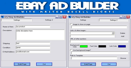 Product picture Ebay Ad Builder/how to make money on ebay/ebay make money